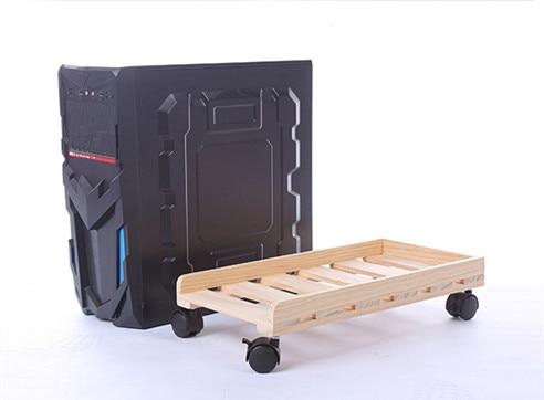 Передвижной корпус для настольного ПК из твердой древесины, регулируемая подставка для процессора, держатель для башен
