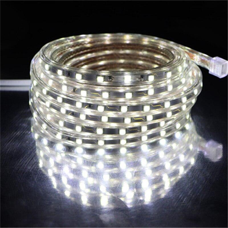 Tira de luces LED SMD 5050 AC 220 V, tira de luces LED blanca para exteriores, resistente al agua 220 V 5050 220 V, tira de luces LED 220 V SMD 5050, 5M 10M 20M 25M 220 V