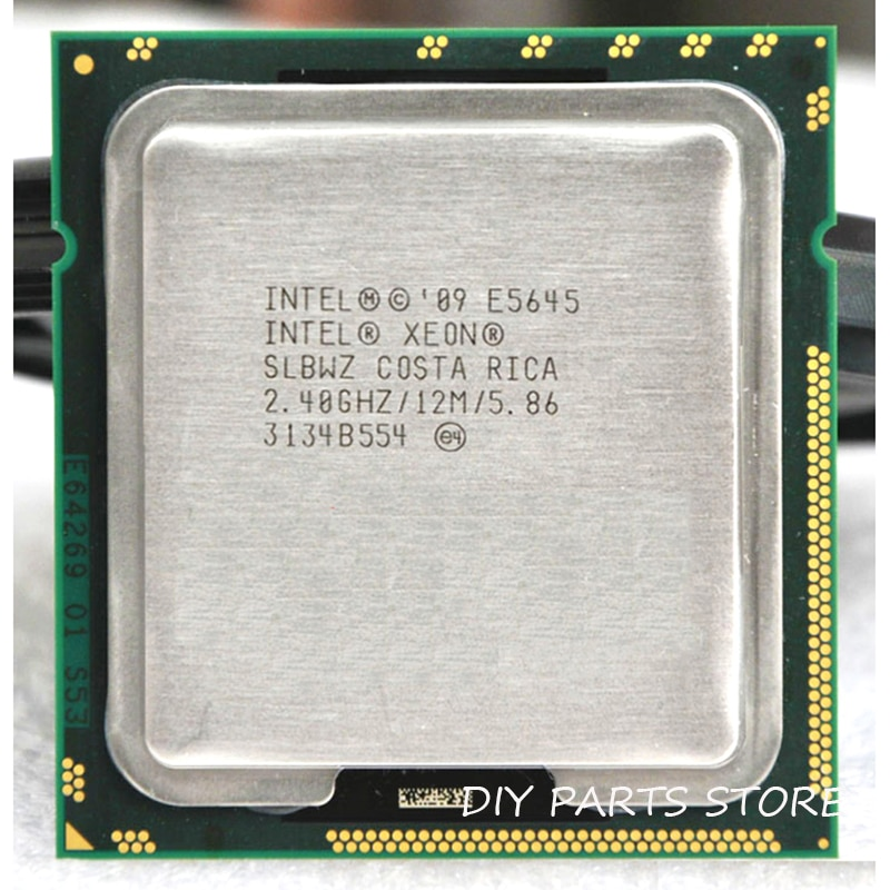 INTEL XEON E5645 seis núcleos 2,4 GHz LeveL2 12M trabajo para LGA 1366 montherboard