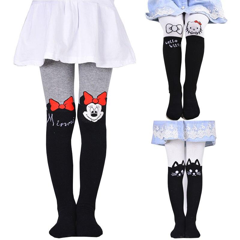 2018 medias de minnie para niña, medias de moda ajustadas, sólidas, lindos diseños de dibujos animados, medias para niñas, pantimedias para niñas, medias de kawaii