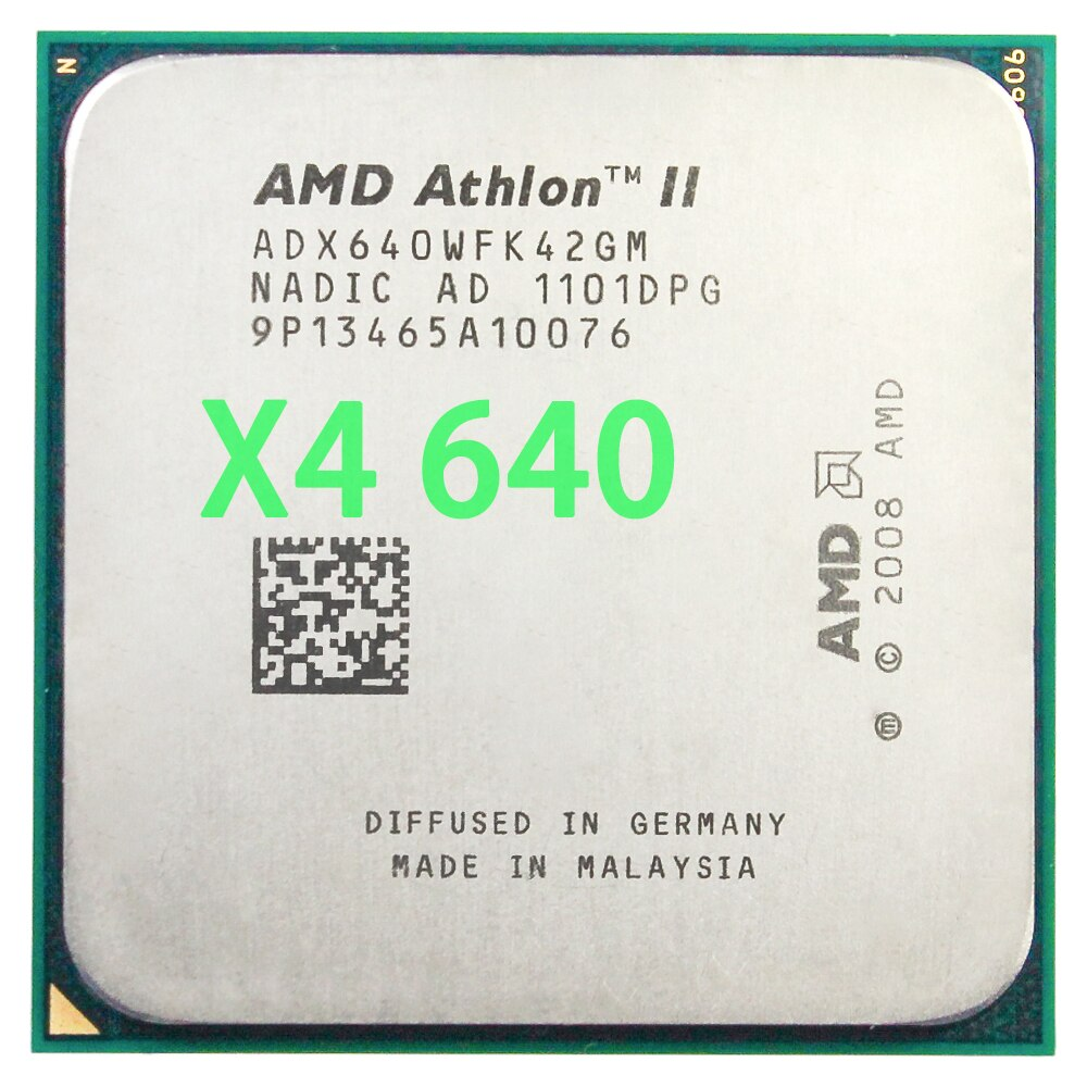 AMD Athlon II X4 procesador 640 (3,0 GHz/2MB/hembra AM3 ) Quad-Core