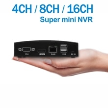 ENSTER XMEYE APP Super Mini H.264 und H.265 NVR Unterstützung 4CH 5MP/8CH 4MP Onvif IP Kamera, TF Karte/USB HDD/E-SATA HDD Aufnahme