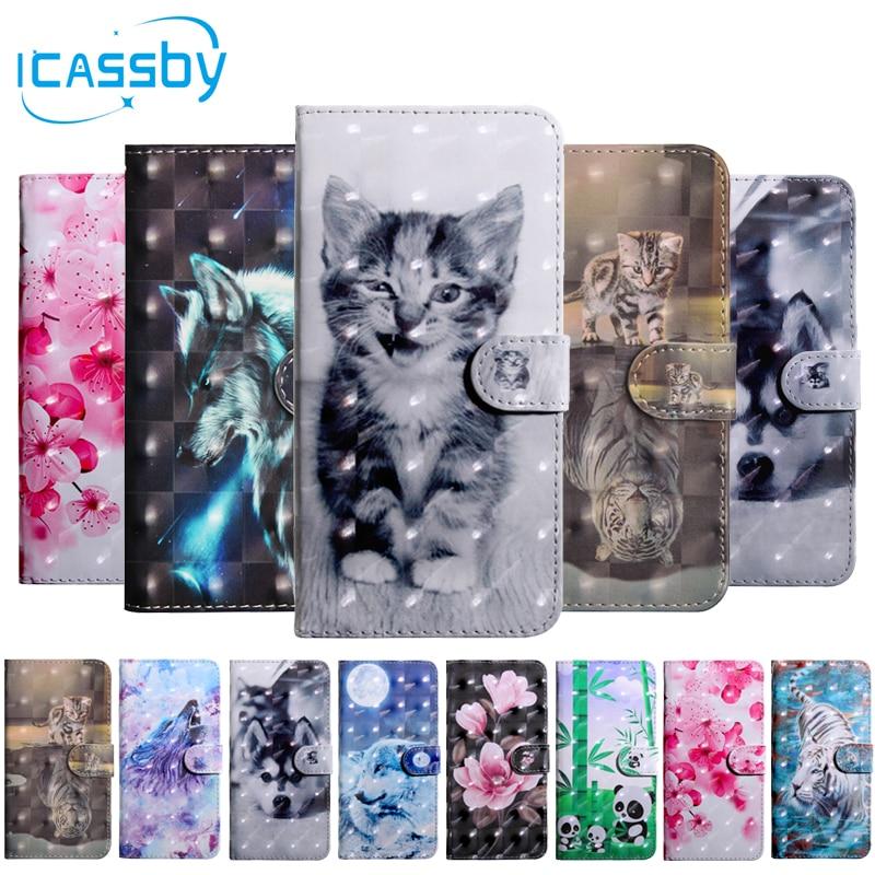 Flip book caso para coque samsung galaxy a20e gato bonito carteira de couro capa telefone para samsung a20e SM-A202F caso etui capinha