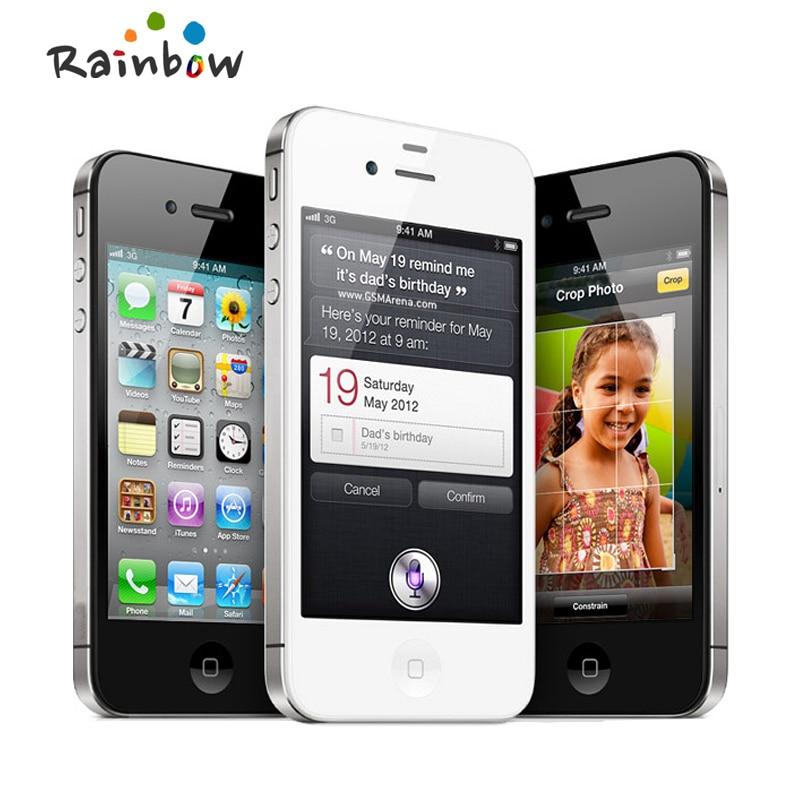"Original Apple iPhone 4S 16GB 3G WIFI GPS 8MP 1080P 3.5""IPS 960x640px Touchscreen Unlocked Mobile Phone"