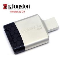 Kingston lecteur de carte USB 3.0 multi-fonction Mobile usb métal Mini SD microSDHC/SDXC UHS-I carte mémoire pour ordinateur adaptateur USB