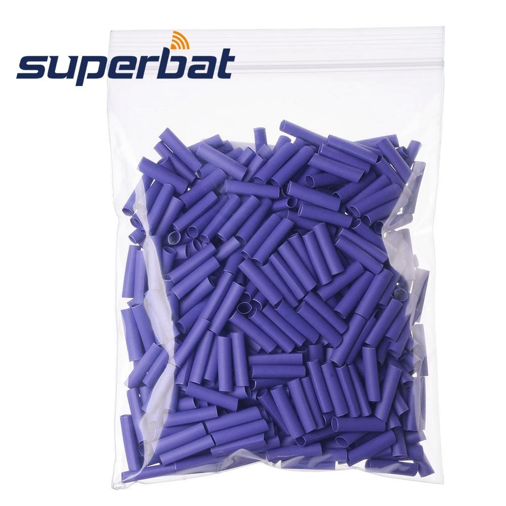 Superbat 100pcs Purple Heat Shrink Tubing Wire Wrap Cable Sleeve OD 3.5mm Length 18mm