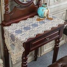 Tapis de Table Style européen   Napperon de Table de café Style néo-classique occidental Simple, napperon de meuble à chaussures à drapeau, décoration Bordado