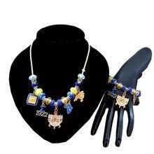 Sororité Sigma Gamma Rho sororité perle 1922 bouclier breloque SGR collier Bracelet ensemble de bijoux