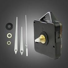 Black Mechanism Quartz Clock Movement Repair Parts DIY Tool Set Kit + White Hands