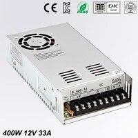 universal 12v 33a 400w regulated switching power supply transformer100 240v ac to dc for led strip light lighting cnc cctv motor