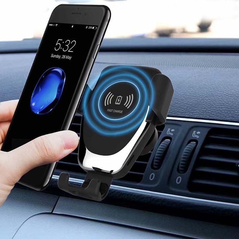 10 Вт беспроводное автомобильное зарядное устройство держатель для телефона с вентиляционным отверстием для iPhone XS Max Samsung S9 Xiaomi MIX 2S Huawei Mate 20 Прямая поставка