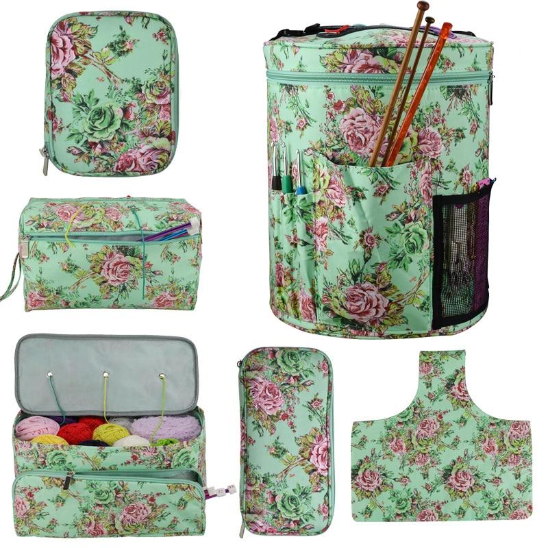 Empty Knitting Yarn Storage Bag For Crochet Hooks Knitting Needles Thread Wool Holder Sewing Kit Knitting Storage Bag for Yarn
