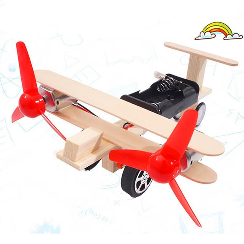 Os princípios Científicos Experimento slide avião carrossel DIY handmade o Interesse das Crianças presente