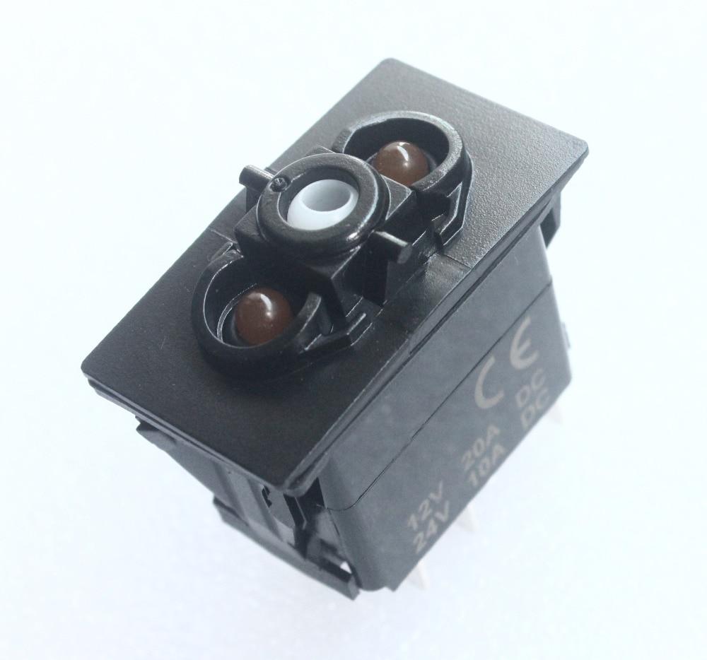 20Pcs / lot , Car Boat Marine 5 Pins ON OFF Oragen Led  Light Bar Rocker Switch Base for Carling Arb Narva Rocker Switch