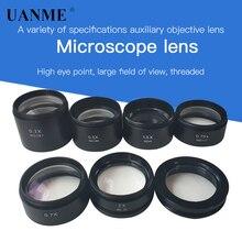 Microscópio estereoscópico trinocular, lente objetiva auxiliar wd120 wd160 pro 1 x 7x 1,5x 2x thread linha