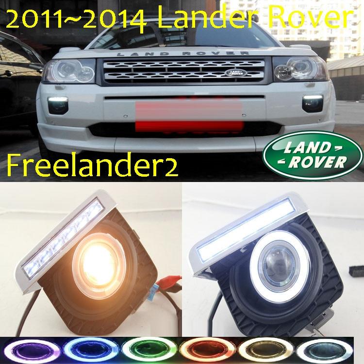 Freelander2 fog light LED2011~2014Free ship!Freelander 2 daytime light,2ps/set+wire ON/OFF:Halogen/HID XENON+Ballast,Freelander2