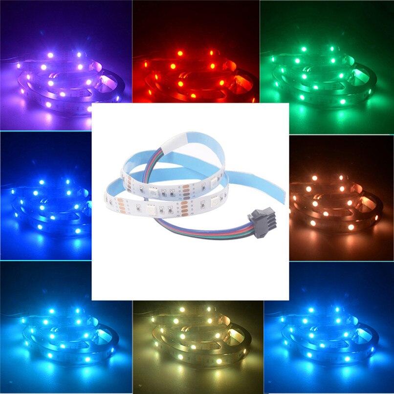 USB LED franja de sesgo luz TV Monitor LCD HDTV Fondo Kit de iluminación 4x50 cm RGB 17key RF tiras luz de fondo led #4P26