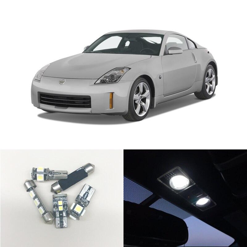 6000K Белая светодиодная интерьерная посылка для Nissan 350Z 2003-2008 карта багажника/грузовая зона номерного знака, автомобильный Стайлинг, светодио...
