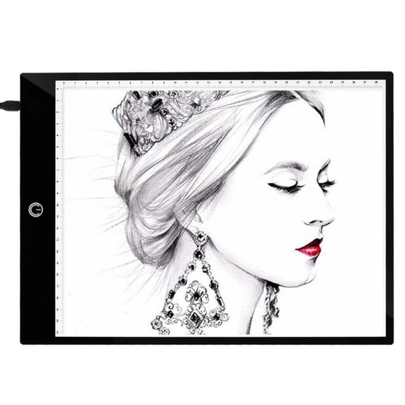 A4 gráficos digitais almofada desenho pintura tablet escurecimento led caixa de luz placa cópia eletrônico arte pintura escrita mesa rastreamento
