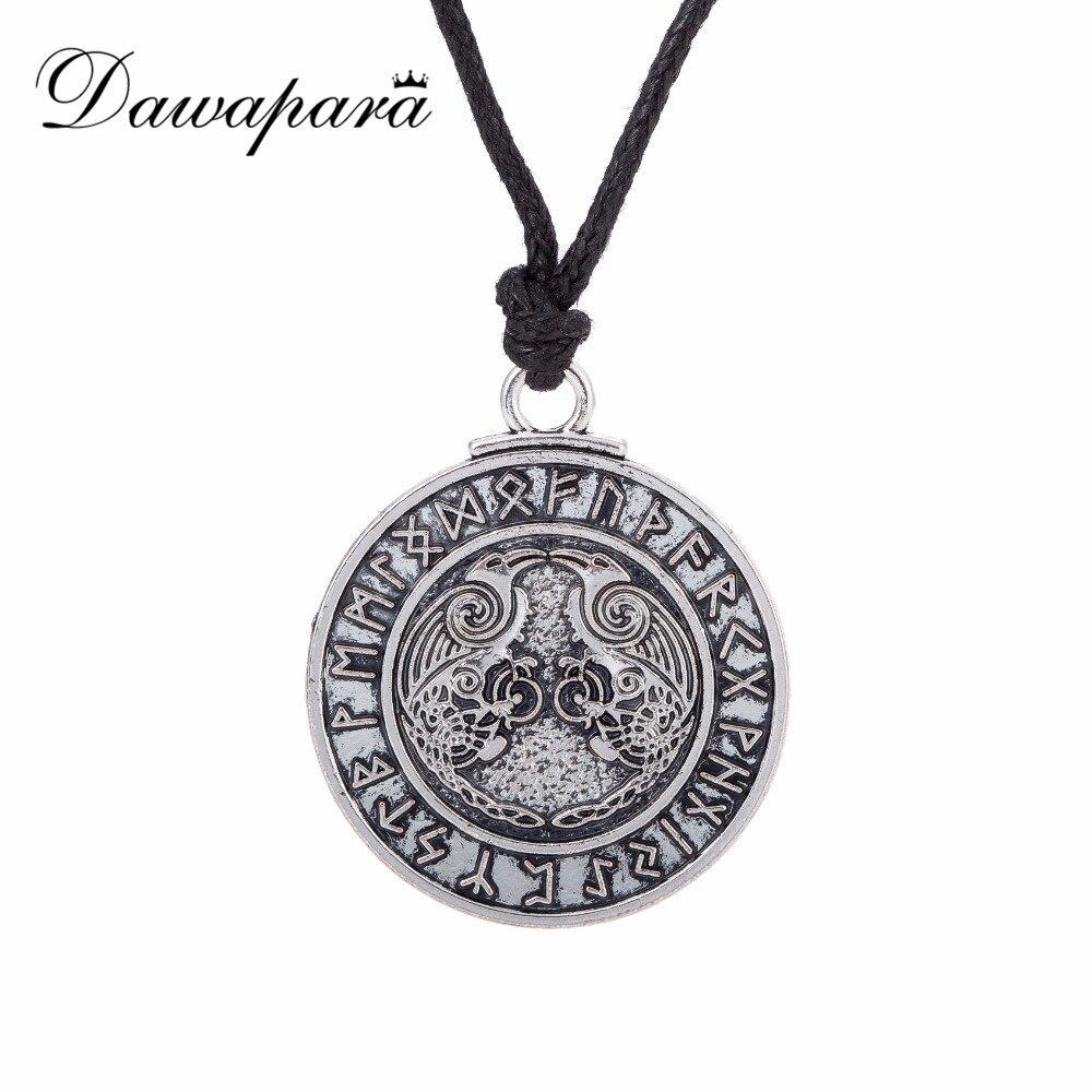Dawapara Odin corbeau Valknut amulette nordique Viking Runes Triskelion symbole Triskele hommes collier femmes bijoux