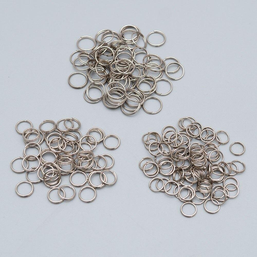Соединительные кольца с двойными петлями, золотистые/Серебристые соединительные кольца для поделок, 200 шт./лот, 7/8/10 мм