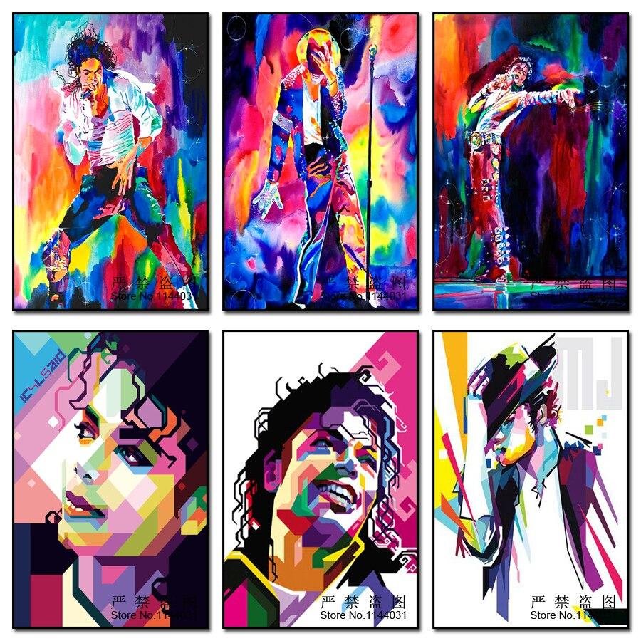 5D алмазная вышивка, цветная живопись, портрет, сделай сам, полная алмазная живопись, Майкл Джексон, Ститч, искусство, ремесло, украшение для д...