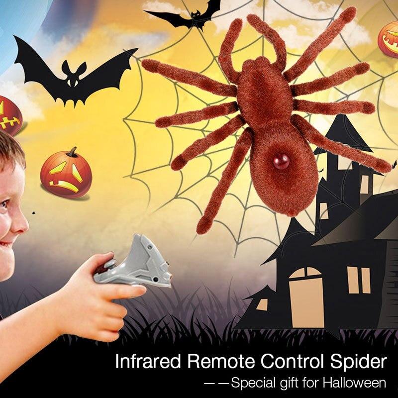 Juguete de simulación de araña a Control remoto divertido regalo de broma para Halloween Casa Encantada NSV775