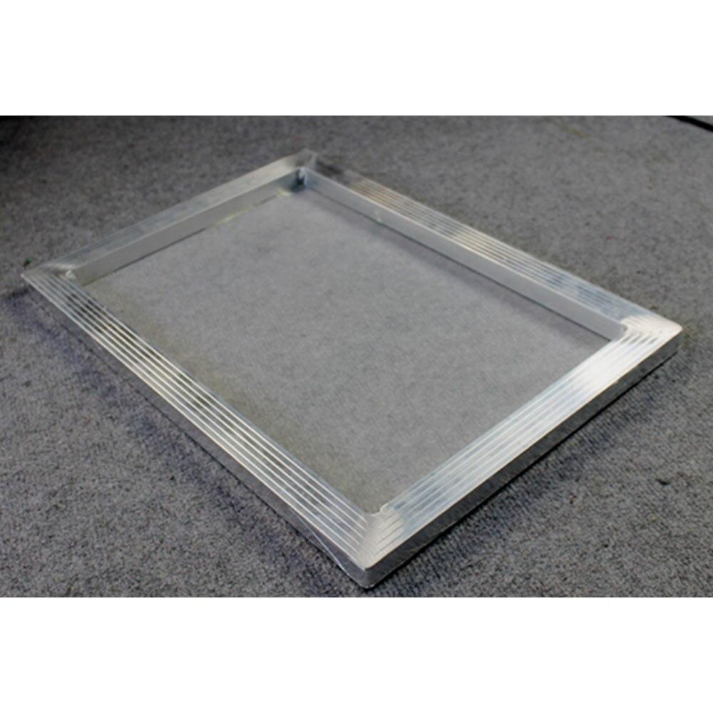 6 uds. Marco de impresión de pantalla de aluminio de 20x24 pulgadas con malla blanca 110