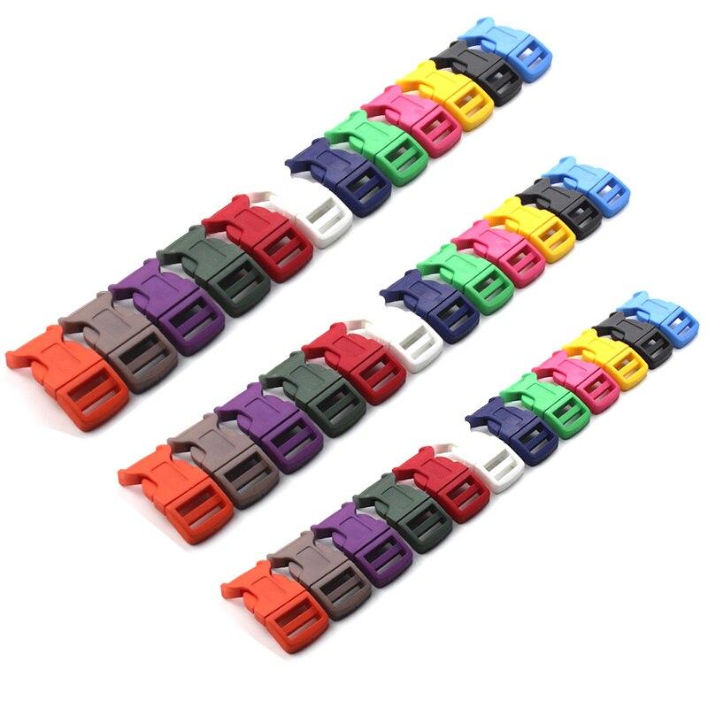 16mm ~ 25mm Farbe Kunststoff Konturierte Schnallen Für Paracord Armband Rucksäcke schuhe Taschen Katze Hund Kragen DIY Zubehör