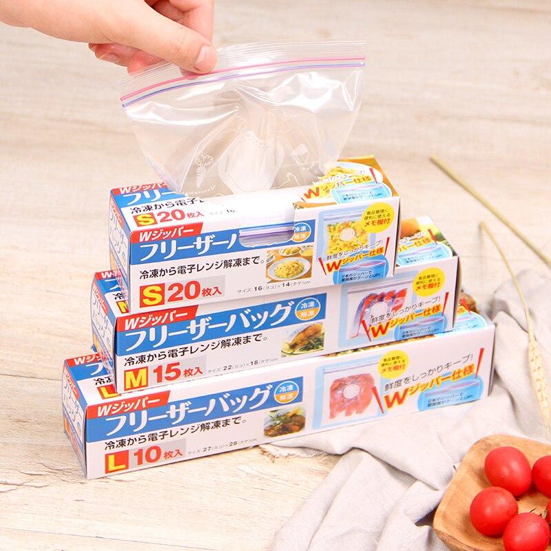 Bolsas de alimentos frescos PE, bolsa de refrigerador de contenedores para almacenamiento de alimentos, bolsa de mantenimiento fresco para cocina Ziplock