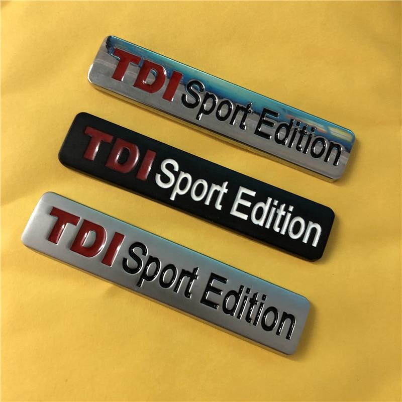 1X Metal Chrome Black Red TDI Sport Edition Turbo Car Sticker Emblem Badge Decals for VW POLO GOLF CC TT JETTA GTI TOUAREG