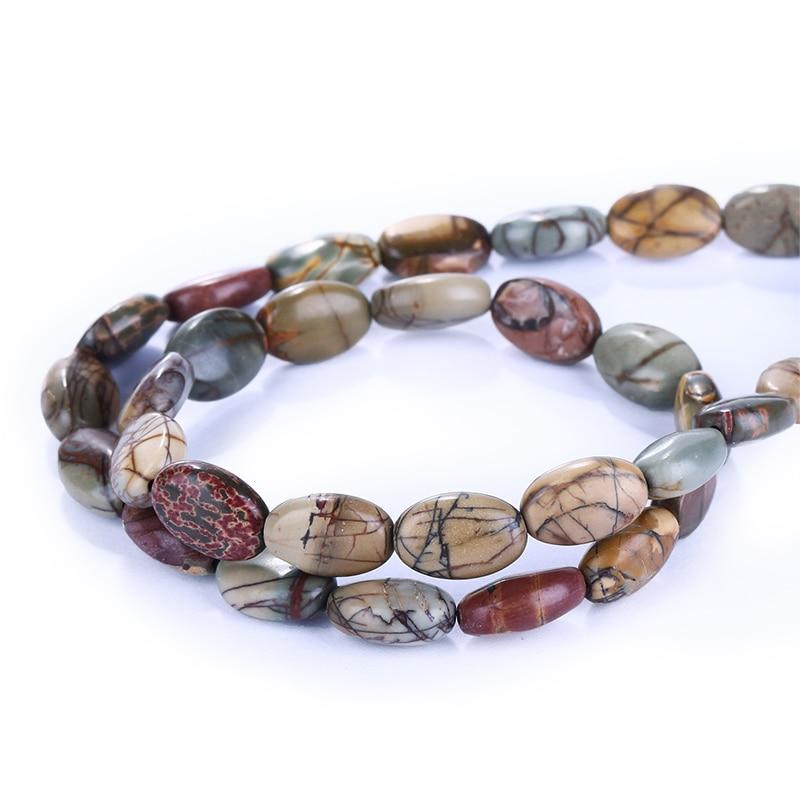 5 Strand Natural gemstone,Semi-precious stones,Jewelry accessories,Multi Color Picasso Jasper Fashion Loose Beads,11x6mm,25.3g