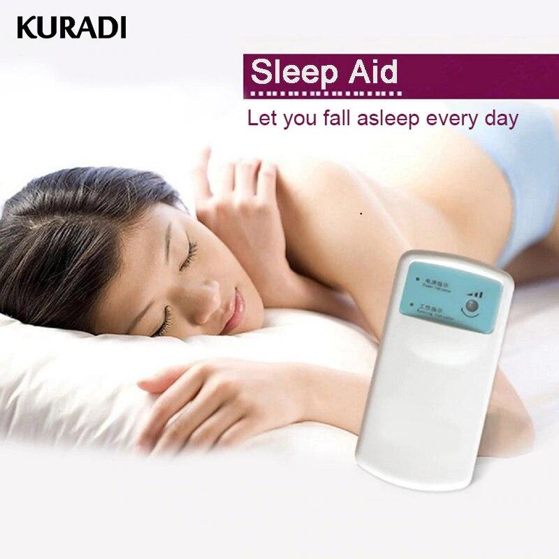 Instrumento para dormir insomnio cura acondicionamiento de la máquina de masaje de acupuntura de puntos ayudas para el sueño con baterías para relajarse durante el sueño