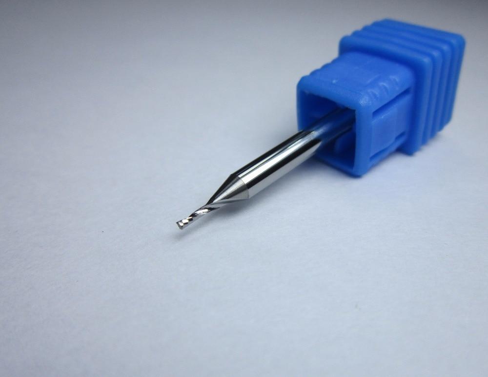 10 Uds diámetro 1MM 3.175*1*4*38 carburo de tungsteno solo 1 flauta fresa fresadora CNC máquina para acrílico al por mayor