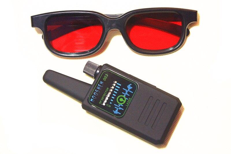M0003 الضوء الأحمر يومض جميع الكشف عن RF مستكشف إشارة علة مكافحة التجسس جهاز كشف الكاميرات GSM الصوت علة مكتشف لتحديد المواقع المسح مع نظارات