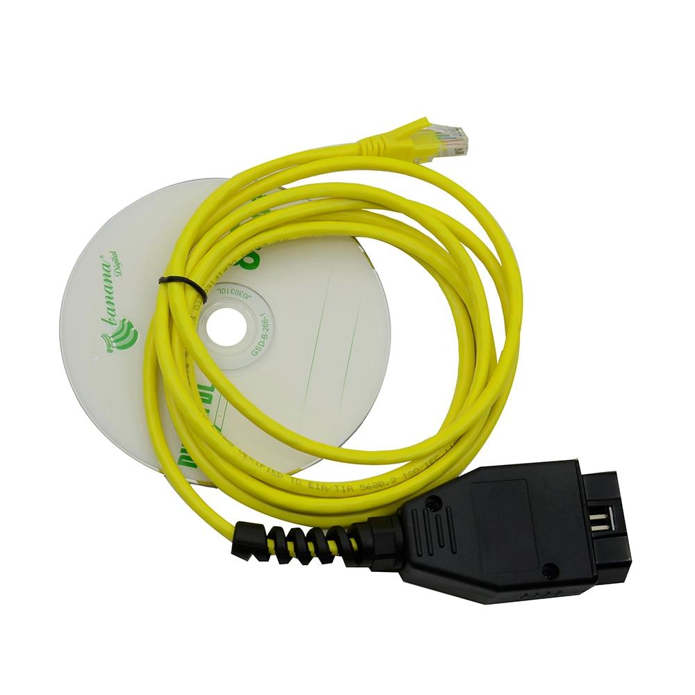 Новинка 2018! ESYS 3.23.4 V50.3 кабель для передачи данных для bmw ENET Ethernet к OBD OBDII Интерфейс E-SYS ICOM кодирующий кабель для F-serie