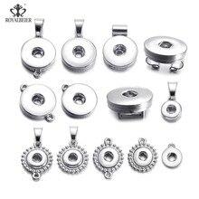 12 pièces/lot Basical bricolage bouton pression 12mm/18mm interchangeables boutons pression bouton Base breloque pour Bracelets pression colliers fabrication de bijoux