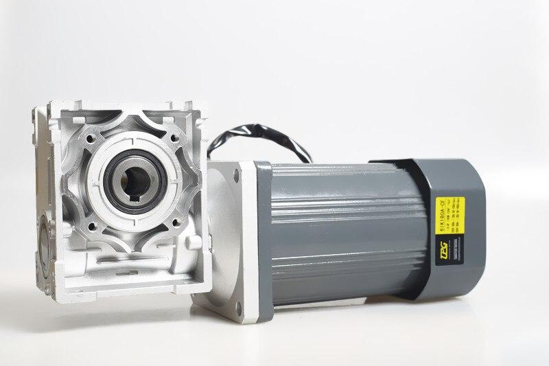 علبة تروس دودية تيار متردد 220 فولت 140 واط مع علبة تروس دودية RV40 / RV50 ، محرك تروس دودية منظم عزم دوران عالي ، محرك مصاريع