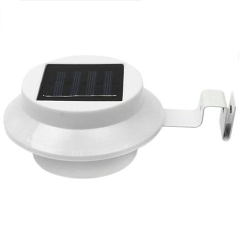 Paquete de 6 luces Led de canalón Solar al aire libre-luz de seguridad eléctrica Solar inteligente