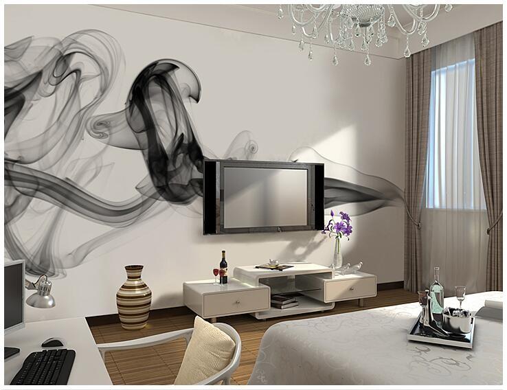 Niestandardowe 3D fototapety Dymu chmury streszczenie artystyczny fototapeta tapeta nowoczesna minimalistyczna sypialnia sofa TV obraz papier 15
