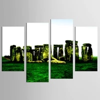4 piecesset beautiful meadow landscape wall art for wall decor home decoration picture paint on canvas painting unframed