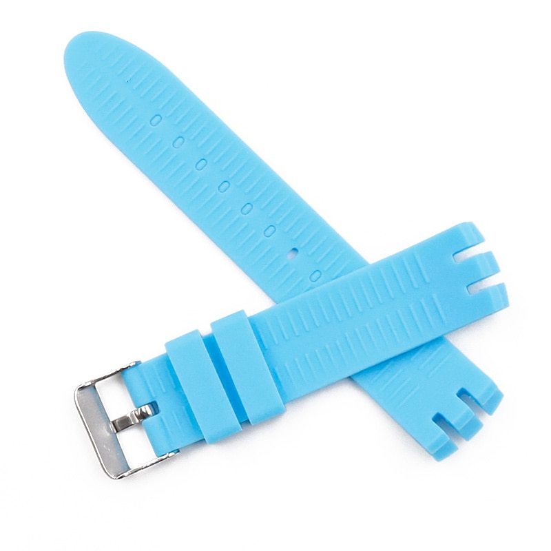 Купить с кэшбэком Watch Accessories Pin Buckle Silicone Strap Women Suitable for Swatch YTS401 402 409 713 YTB400 Rubber Strap Men Watch band