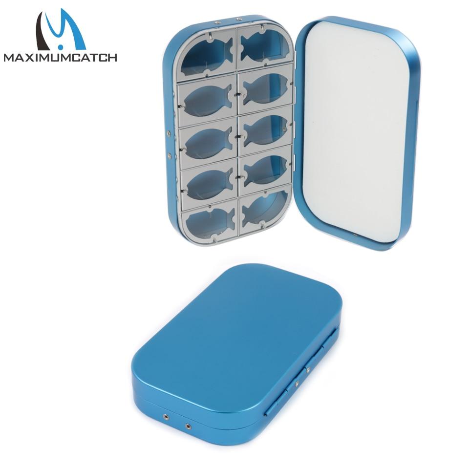 Maximumcatch алюминиевая коробка для мух 10 отсеков Fly Рыболовная мух|box air|box truck boxesbox frog |