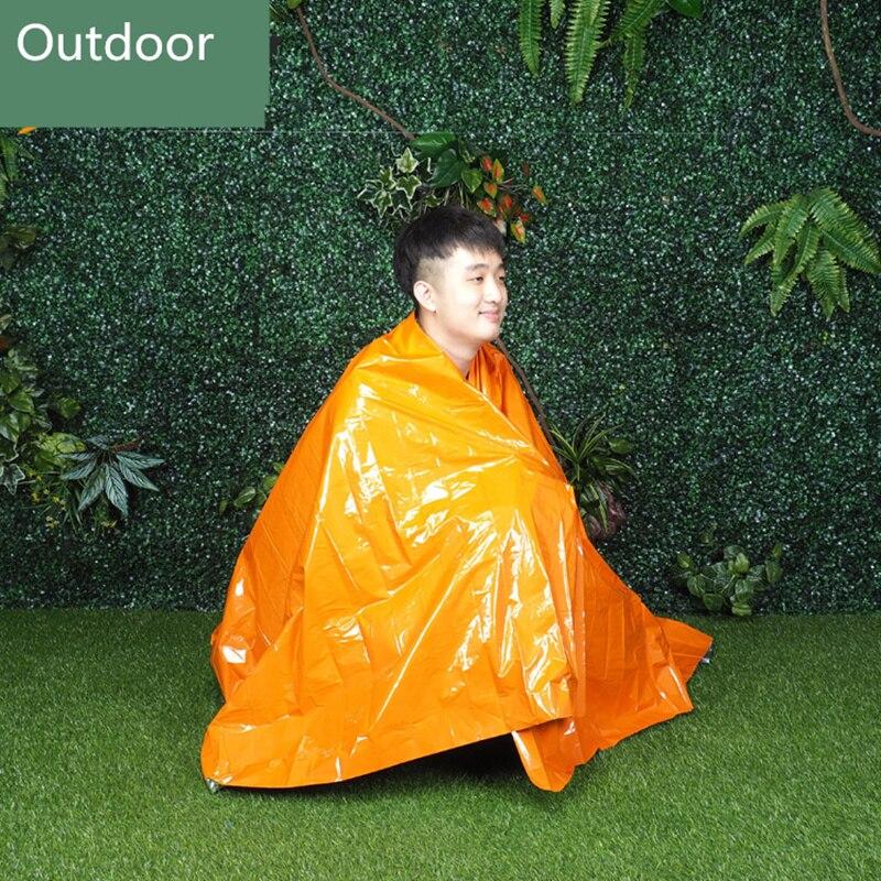 Наружное PE оранжевое одеяло первой помощи спасательное теплое термальное