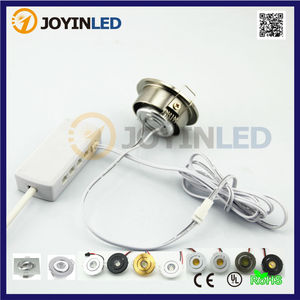 Free Shiping 6pcs 3W Mini LED Downlight Kits with Driver Power Source Including Mini Recessed Led Cabinet Light Connector Box