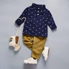 BibiCola printemps bébé ensemble de vêtements automne coton gentleman tenues infantile garçons vêtements haut formel + pantalon 2 pièces survêtement pour enfant