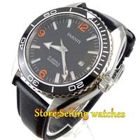 Parnis 45mm Sapphire Glass Ceramic Bezel Luminous Automatic Men 316L Watch
