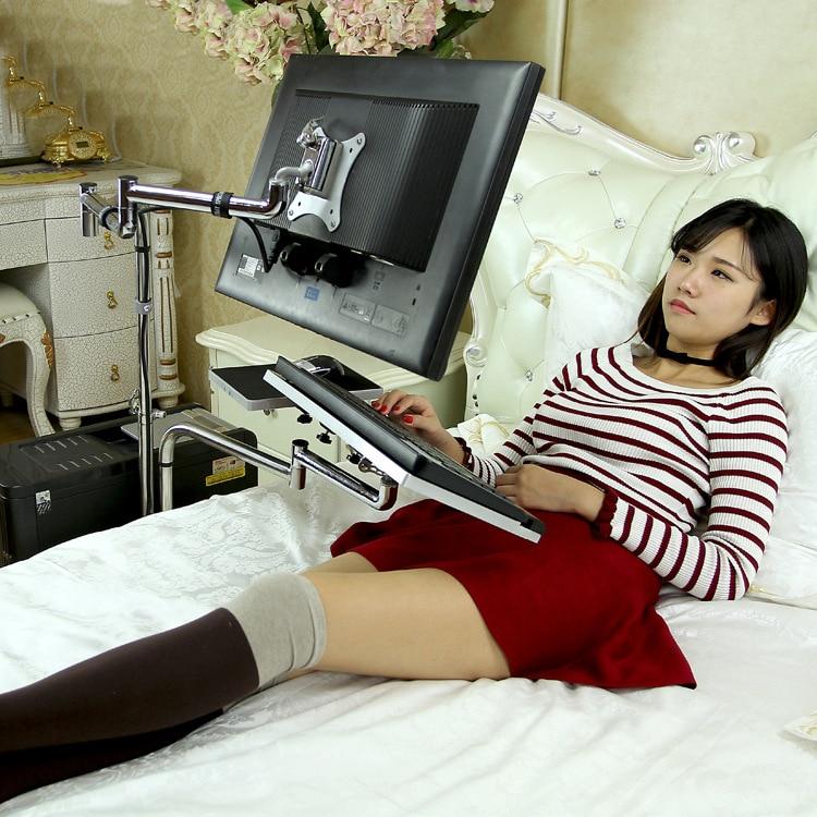 OK611 السرير تتحرك حامل كمبيوتر محمول أريكة قابلة للتعديل الكمبيوتر رصد حامل جبل لوحة المفاتيح حامل الدورية طاولة كمبيوتر محمول Lapdesks