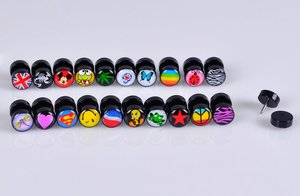 LOT100pcs Hot Sell Logos Body Jewelry -Fake Ear Plugs Illusion Cheater Ear Tapers