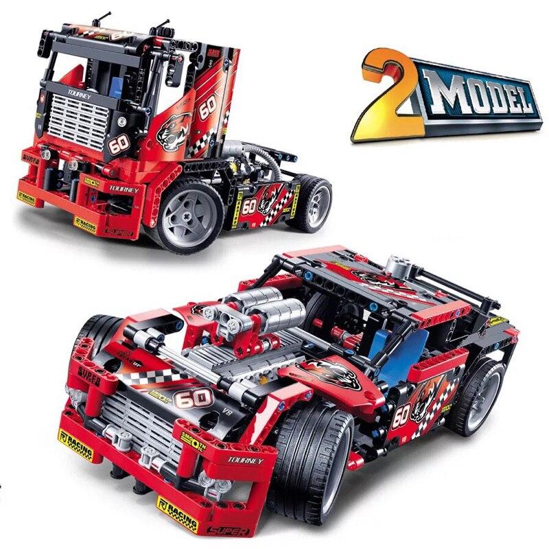 Coche de carreras Decool 3360 2 en 1 Transformabl Compatible Lepining bloques de construcción técnica ladrillos jueguetes de regalo para manualidades 608 Uds